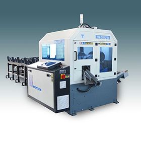 TCT Circular Saw Machines are the new benchmark of productivity in Mass - production applications. Such machines are replacing shearing machines, Automtic bundle cutting bandsaw machines, and Automat lathes (Traub) machines.